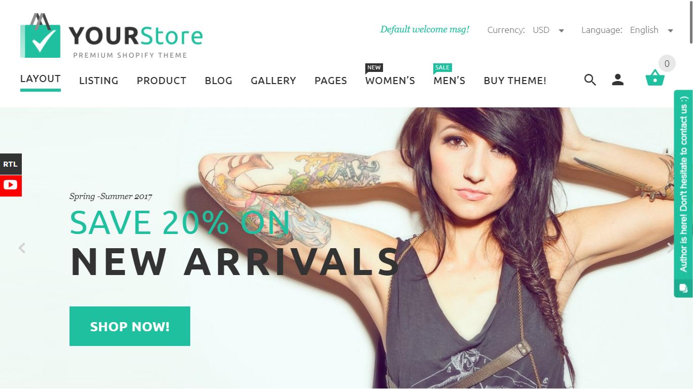 Shopify Theme - Your Store - Screenshot